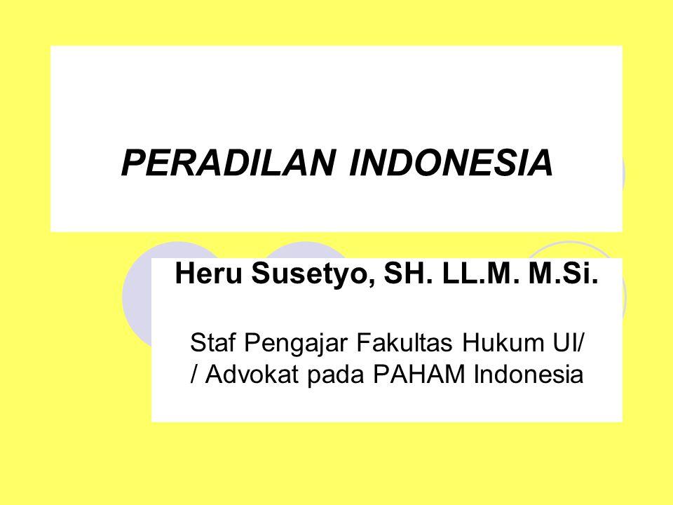 PERADILAN INDONESIA Heru Susetyo, SH. LL.M. M.Si.
