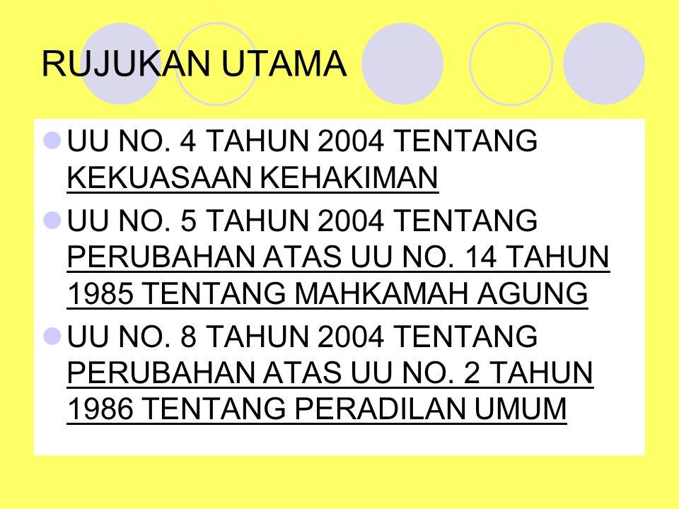 RUJUKAN UTAMA UU NO. 4 TAHUN 2004 TENTANG KEKUASAAN KEHAKIMAN