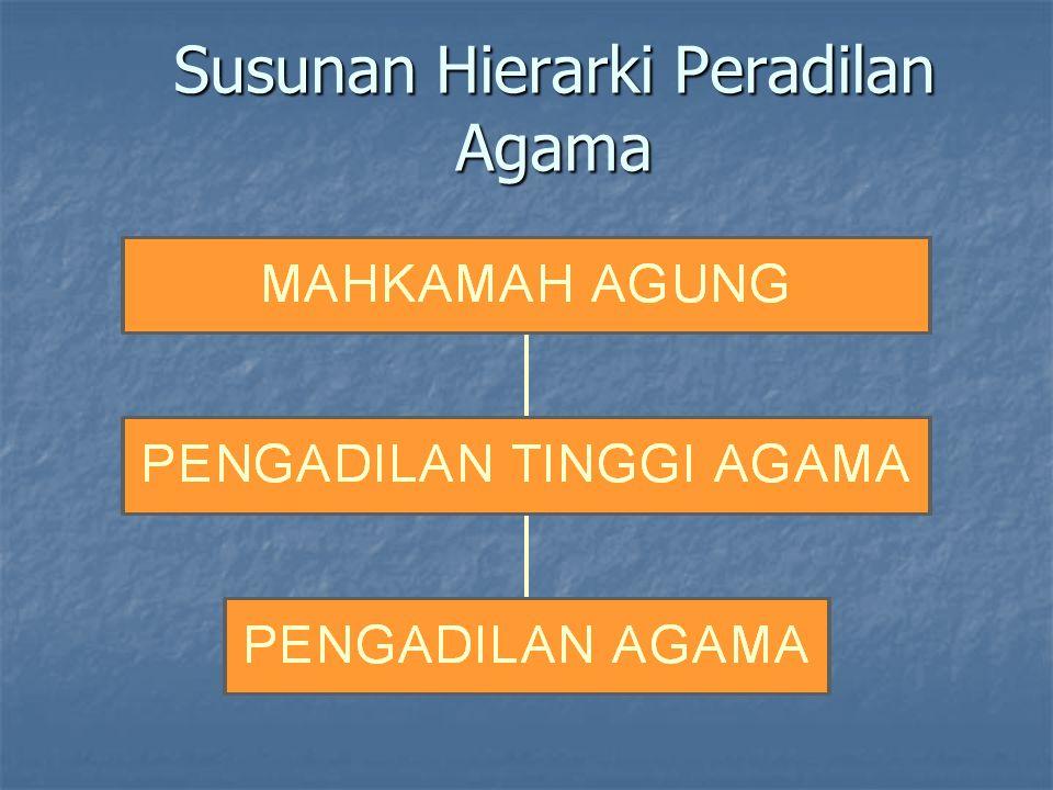 Susunan Hierarki Peradilan Agama