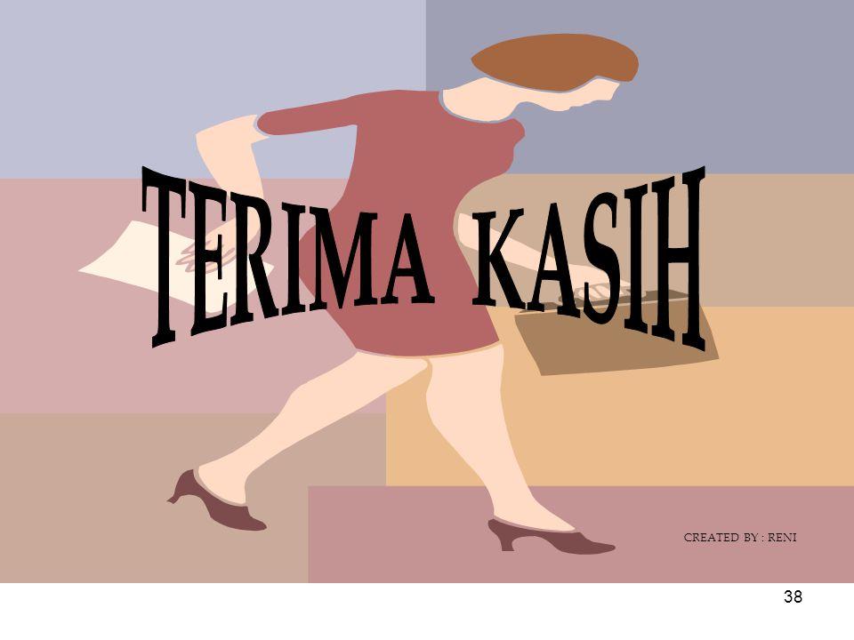 TERIMA KASIH CREATED BY : RENI