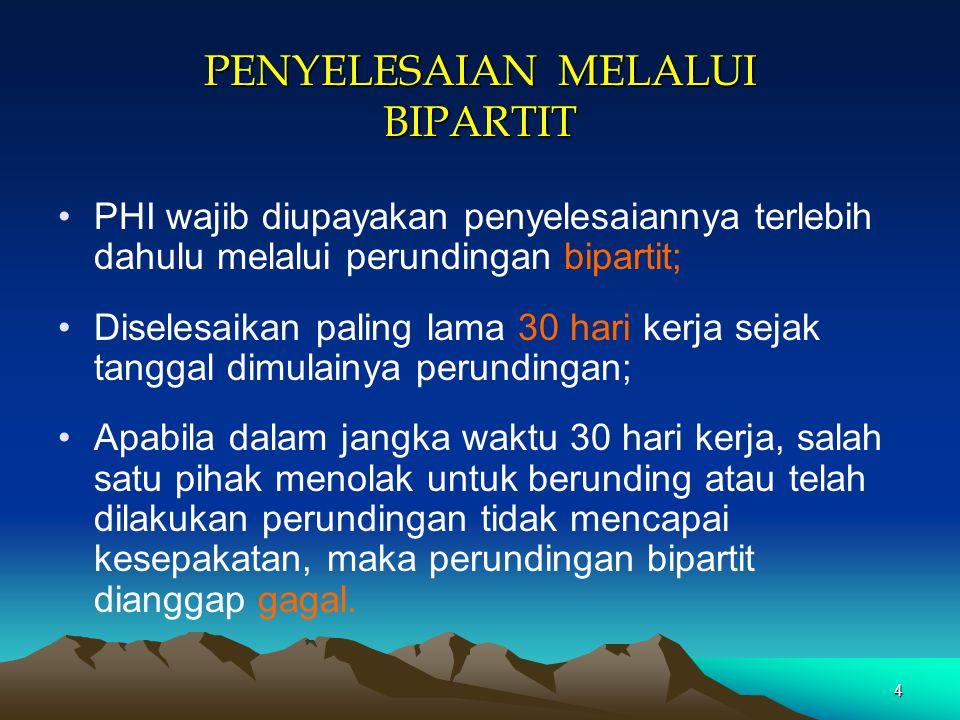 PENYELESAIAN MELALUI BIPARTIT