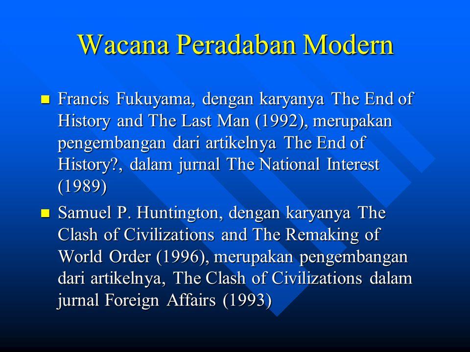 Wacana Peradaban Modern