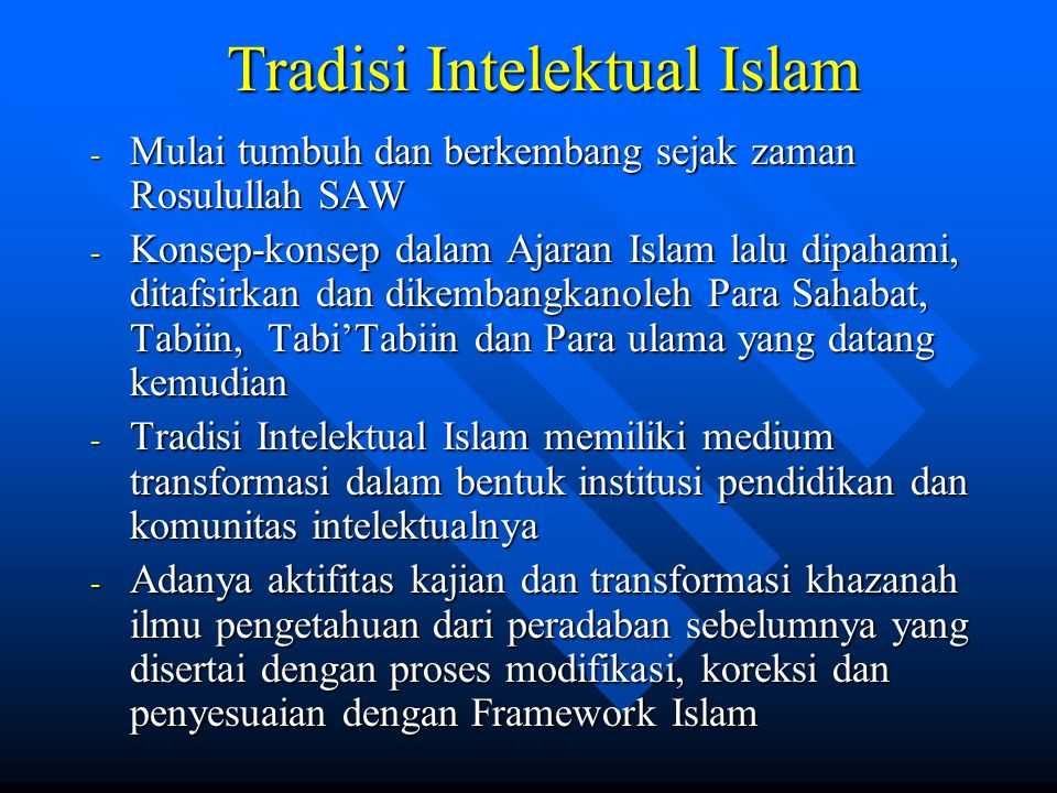 Tradisi Intelektual Islam