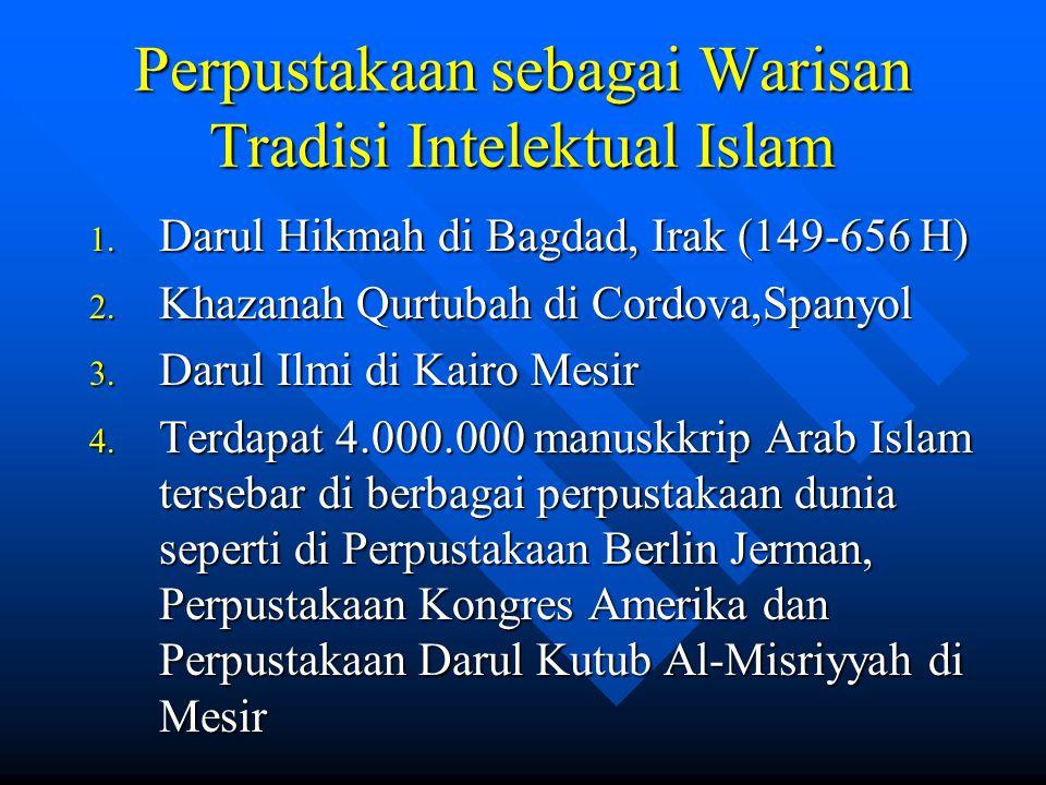 Perpustakaan sebagai Warisan Tradisi Intelektual Islam