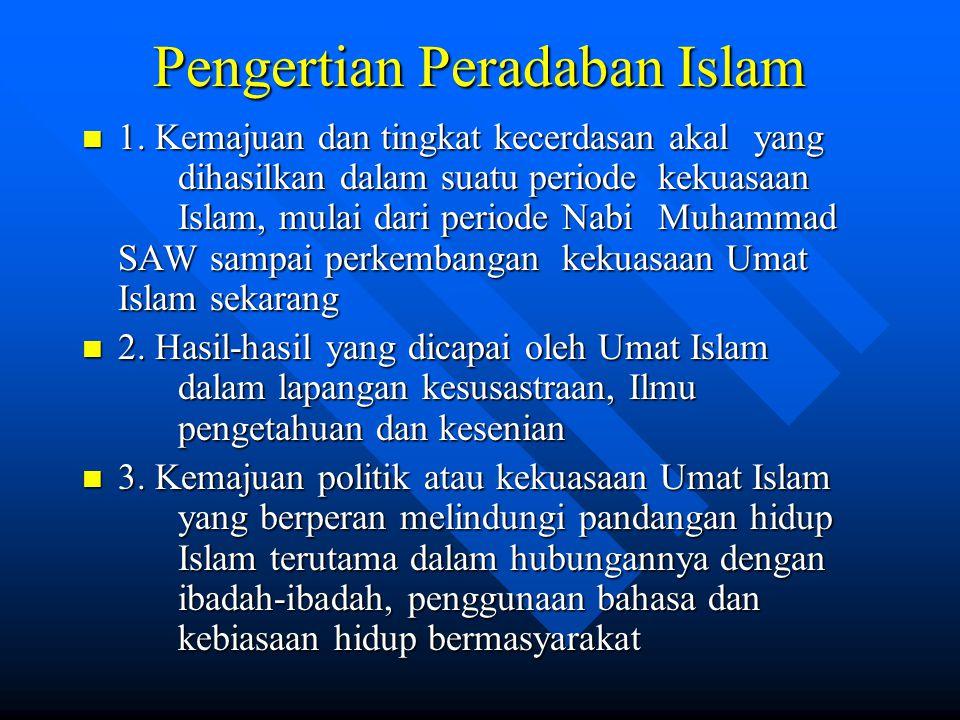 Pengertian Peradaban Islam