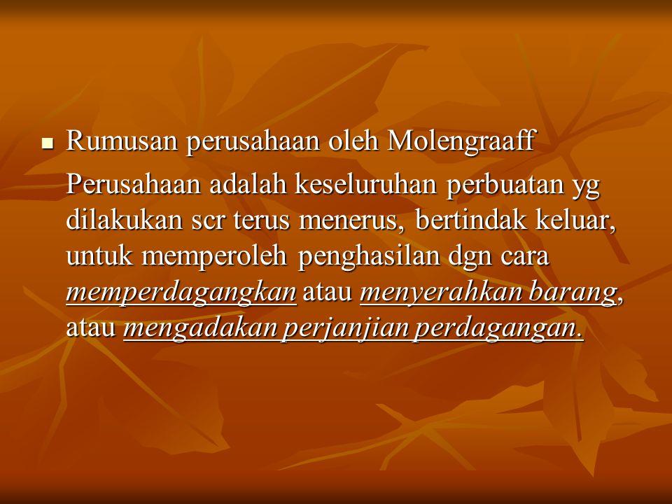 Rumusan perusahaan oleh Molengraaff