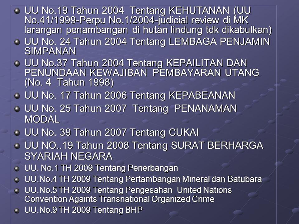 UU No. 24 Tahun 2004 Tentang LEMBAGA PENJAMIN SIMPANAN