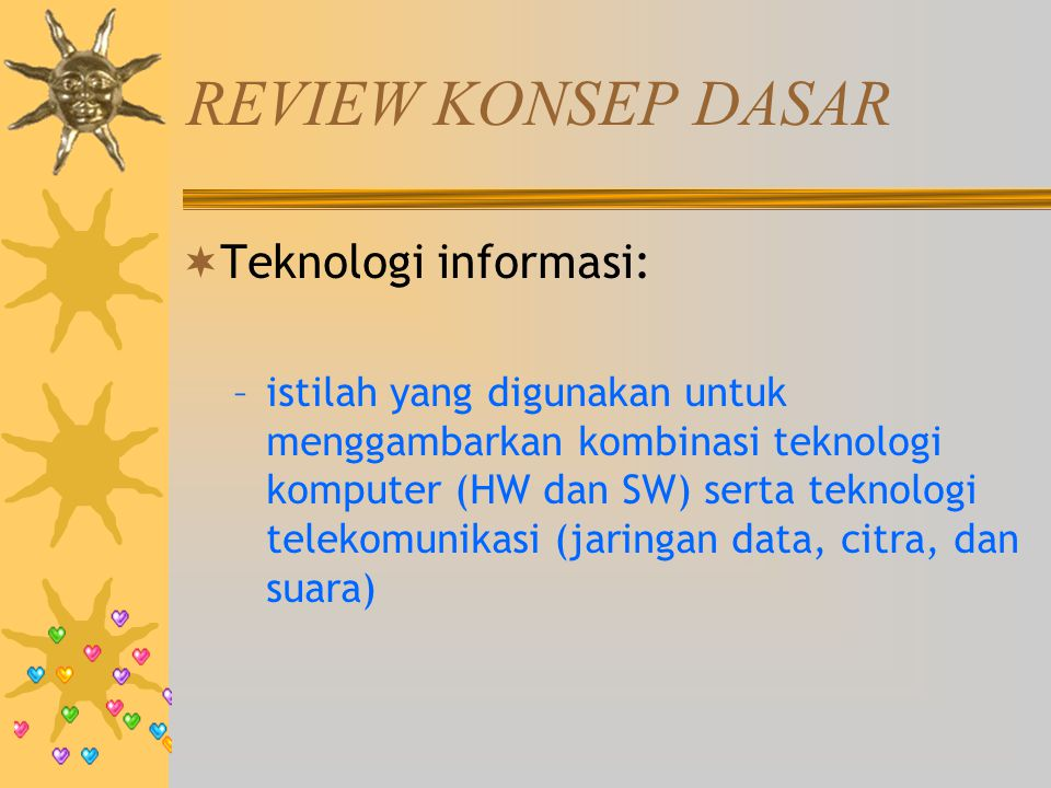 REVIEW KONSEP DASAR Teknologi informasi: