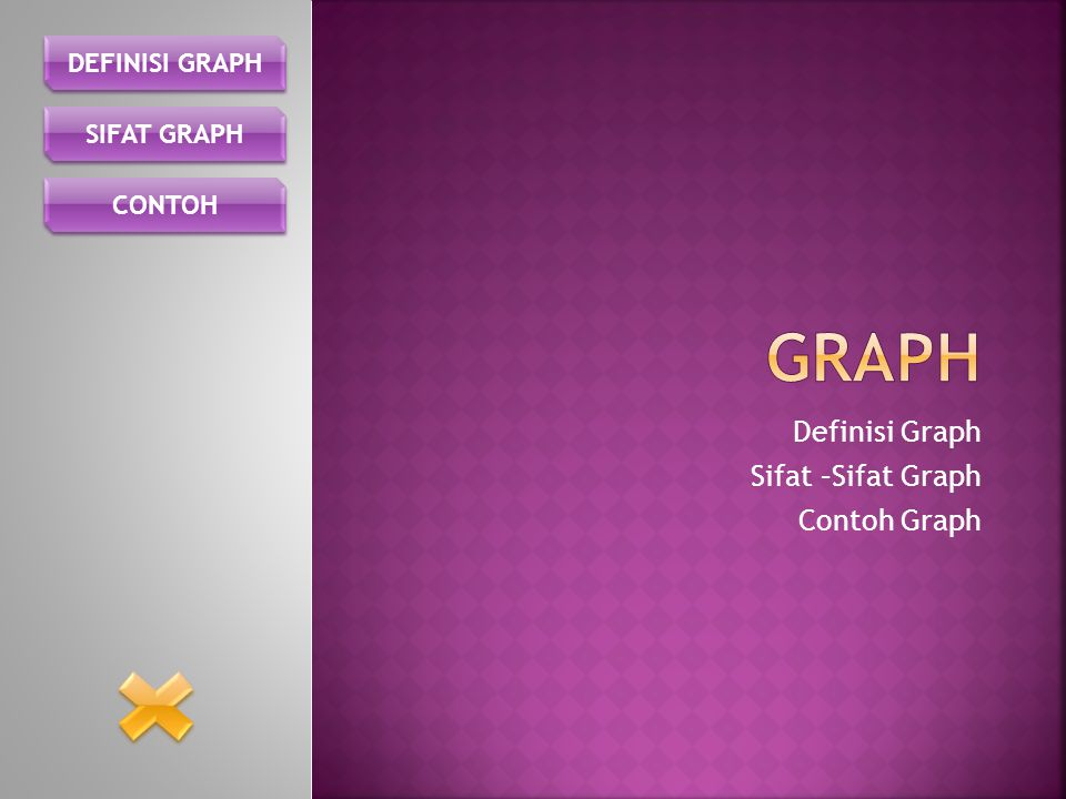 Definisi Graph Sifat –Sifat Graph Contoh Graph