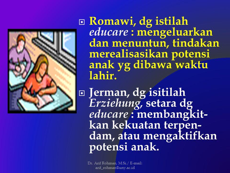 Dr. Arif Rohman, M.Si./ E-mail: arif_rohman@uny.ac.id