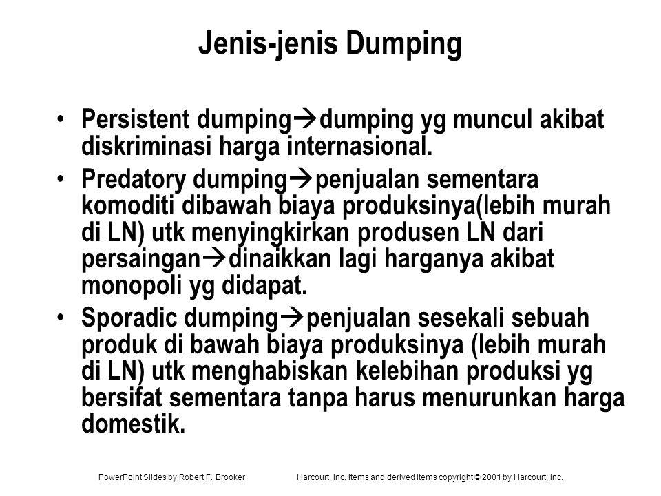 Jenis-jenis Dumping Persistent dumpingdumping yg muncul akibat diskriminasi harga internasional.