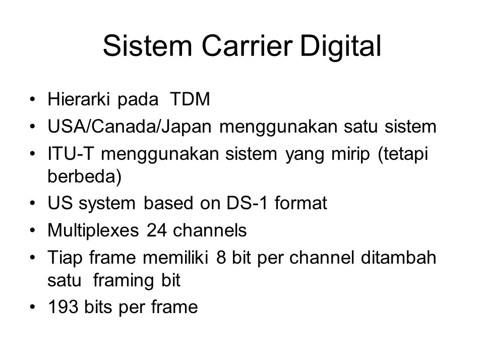 Sistem Carrier Digital