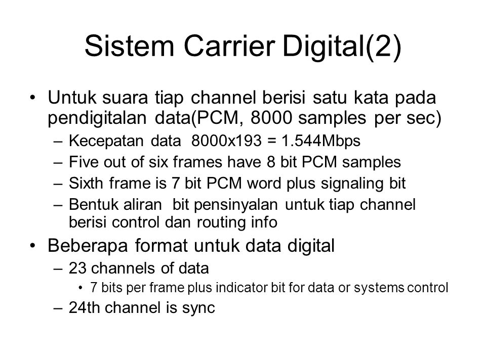 Sistem Carrier Digital(2)