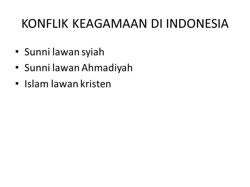 KONFLIK KEAGAMAAN DI INDONESIA