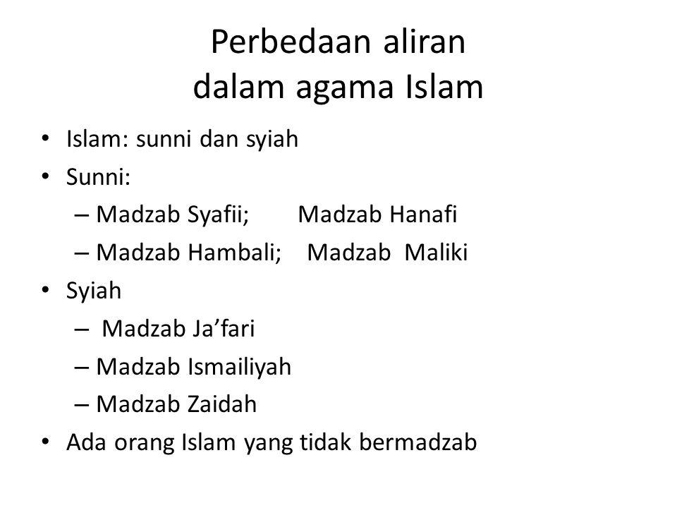 Perbedaan aliran dalam agama Islam