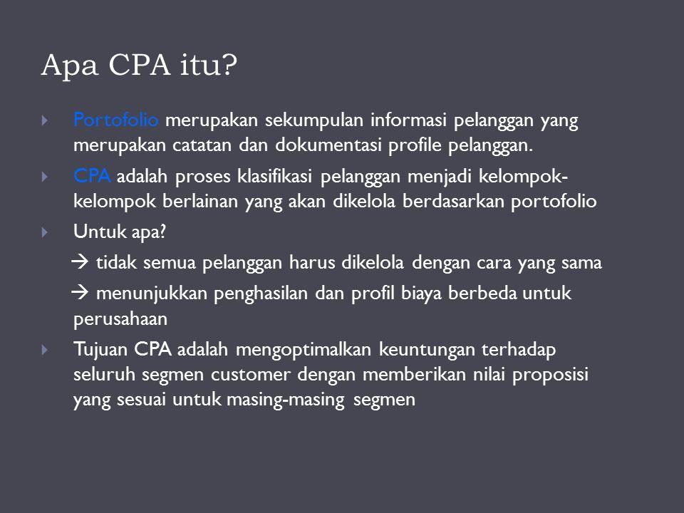 Apa CPA itu Portofolio merupakan sekumpulan informasi pelanggan yang merupakan catatan dan dokumentasi profile pelanggan.