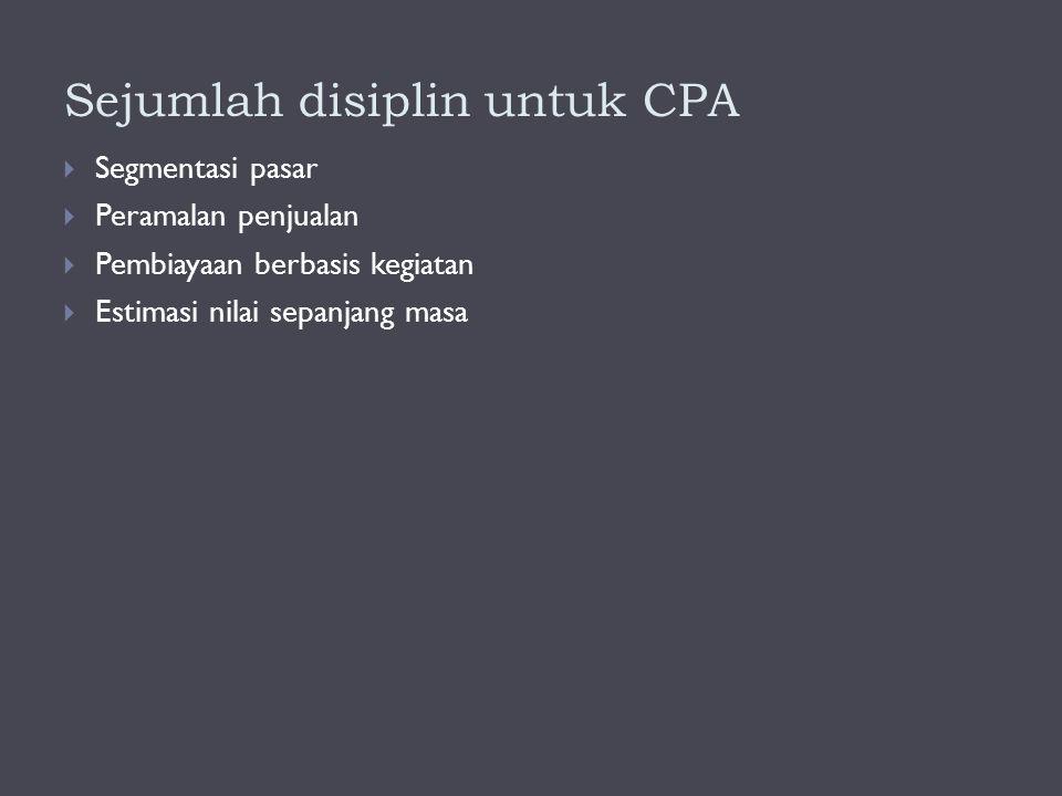 Sejumlah disiplin untuk CPA
