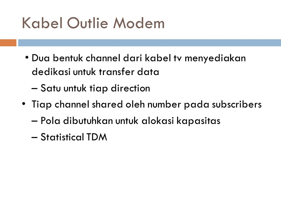 Kabel Outlie Modem