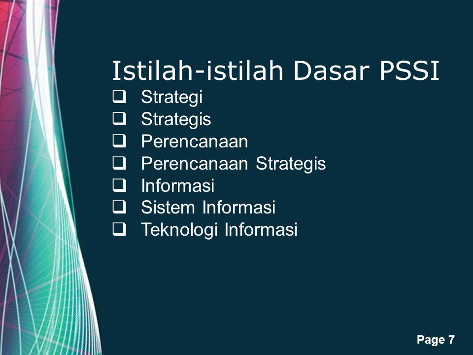 Istilah-istilah Dasar PSSI