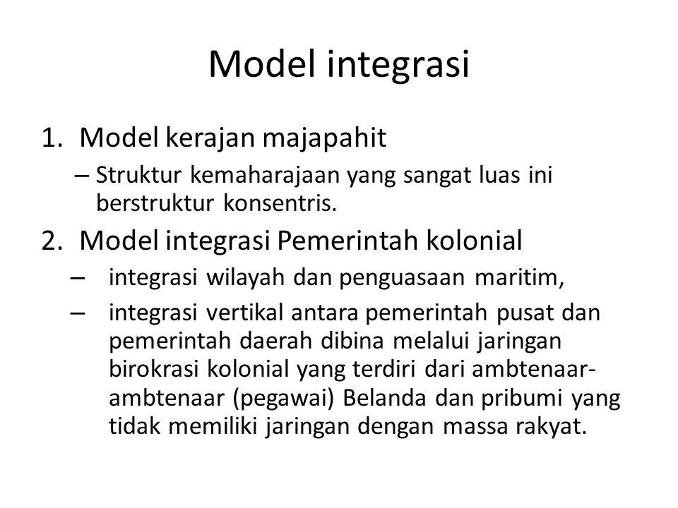Model integrasi Model kerajan majapahit