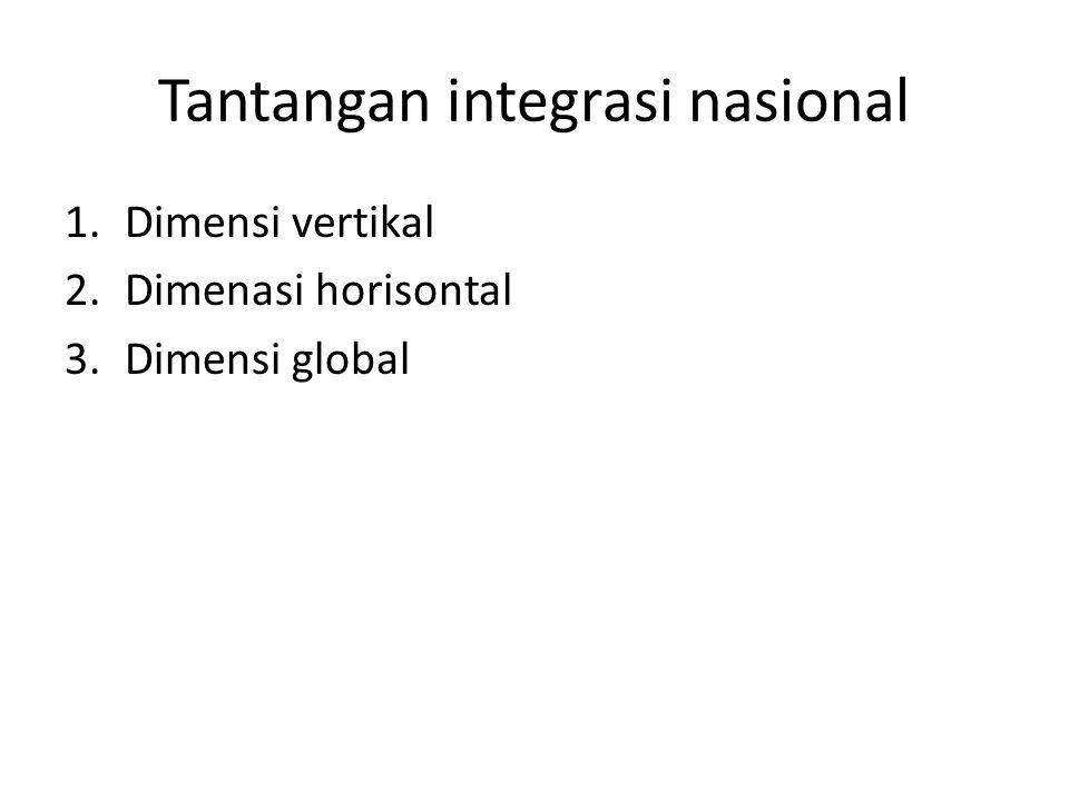 Tantangan integrasi nasional