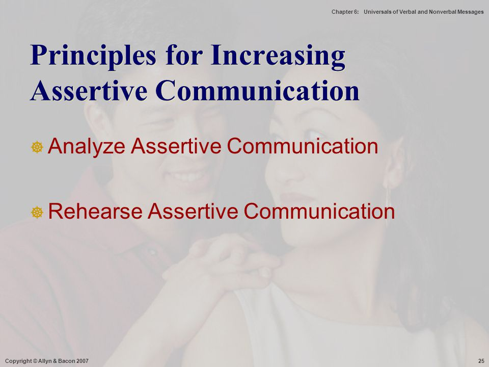 Principles for Increasing Assertive Communication