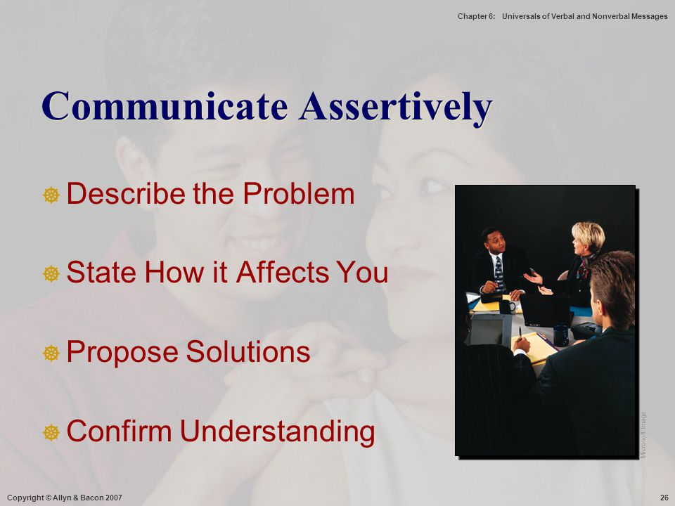Communicate Assertively