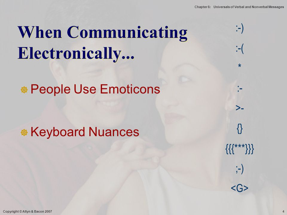 When Communicating Electronically...