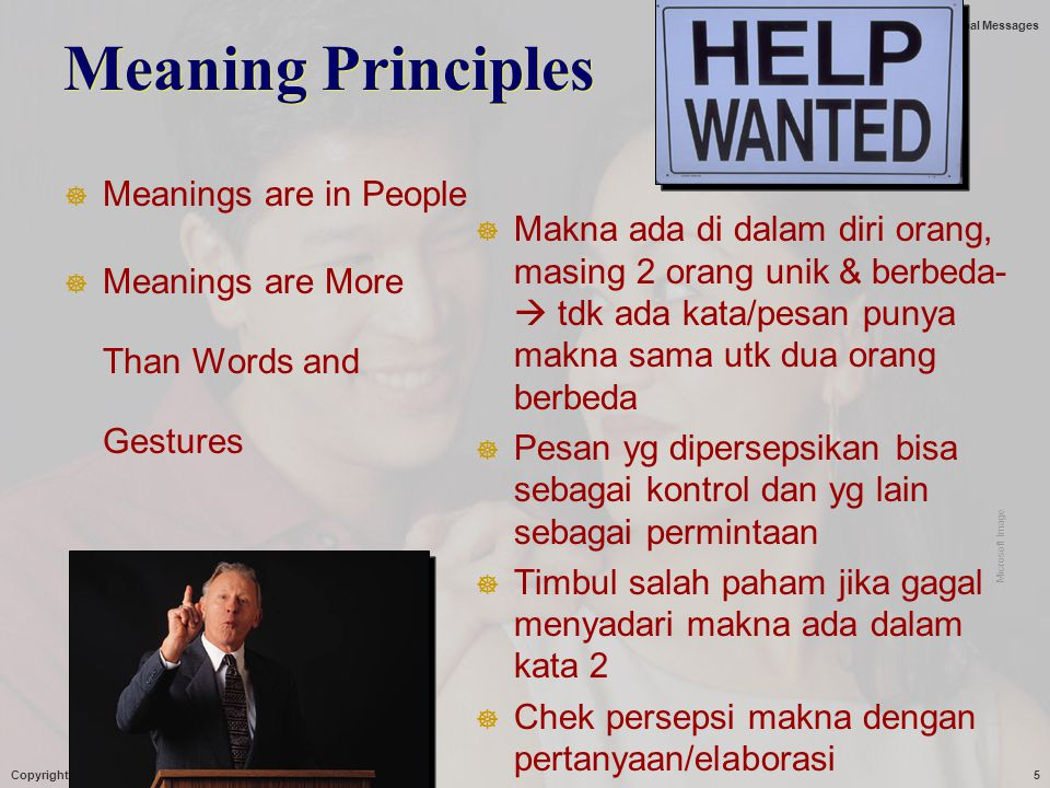 Meaning Principles Meanings are in People