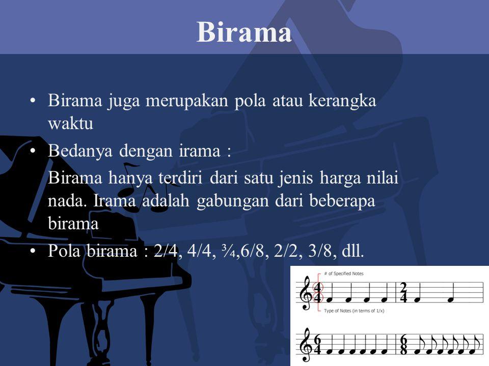 Birama Birama juga merupakan pola atau kerangka waktu