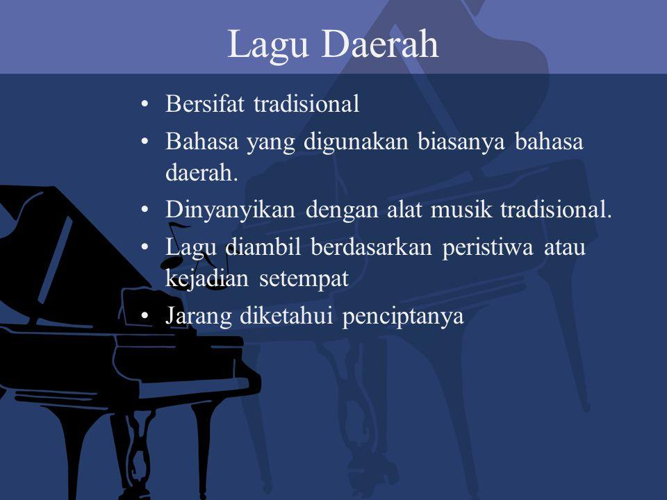 Lagu Daerah Bersifat tradisional