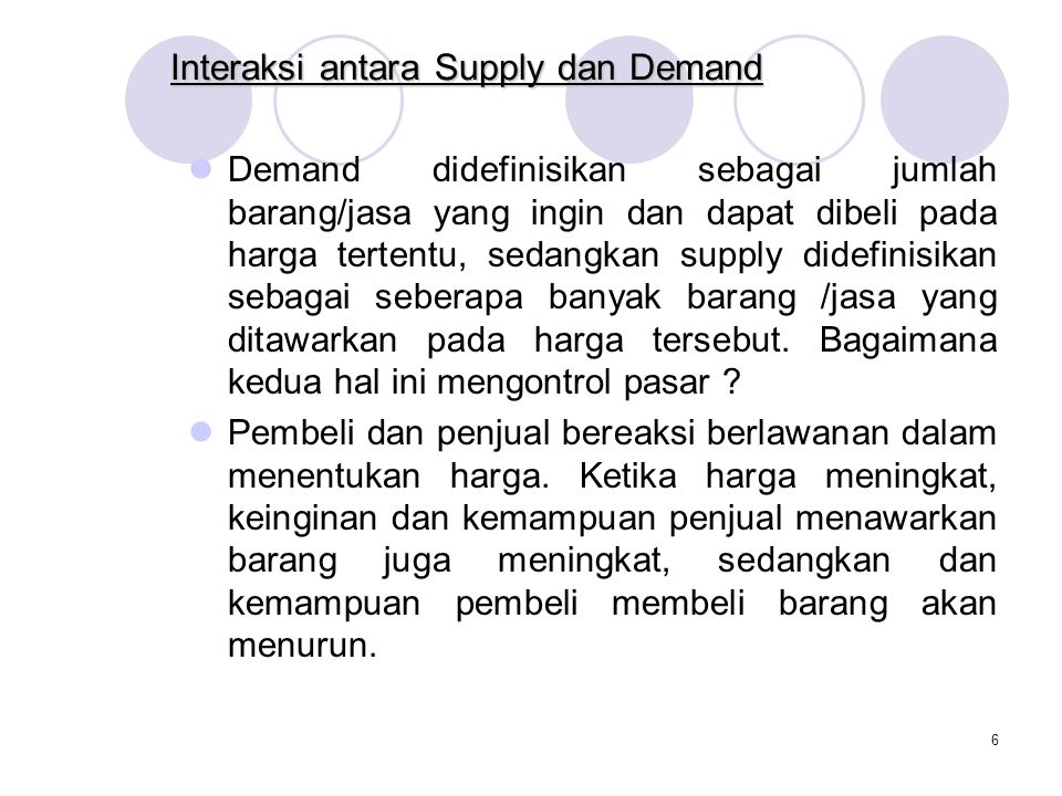 Interaksi antara Supply dan Demand