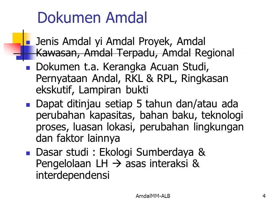 Dokumen Amdal Jenis Amdal yi Amdal Proyek, Amdal Kawasan, Amdal Terpadu, Amdal Regional.