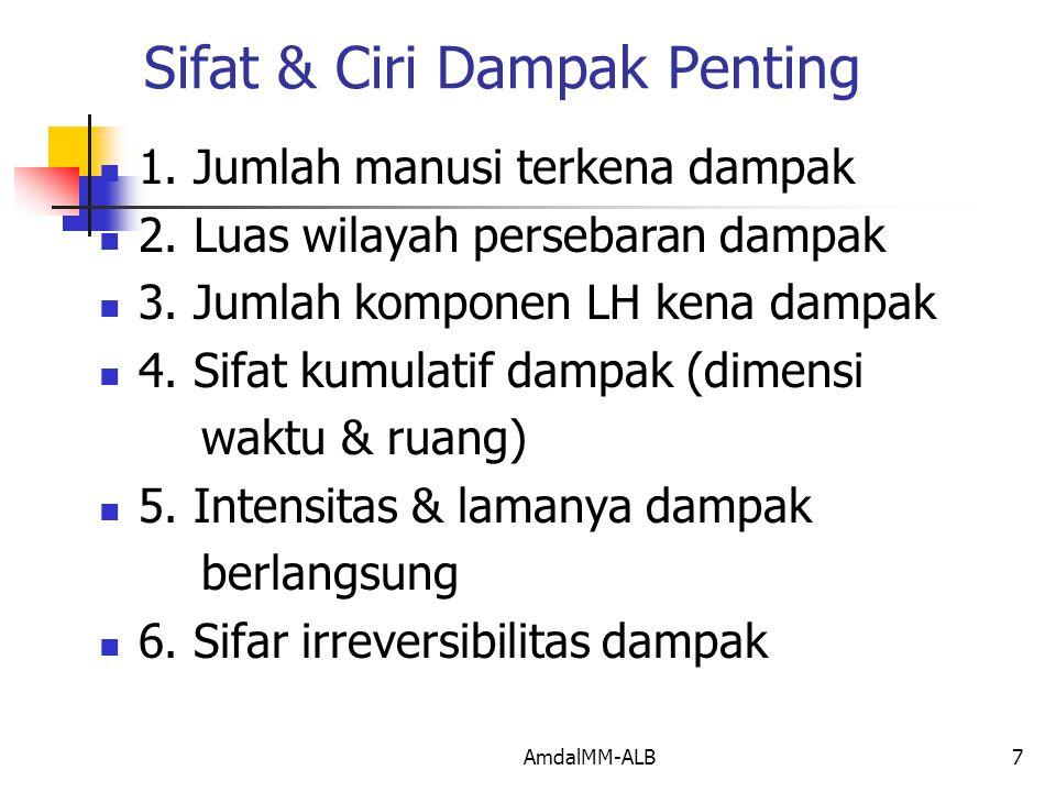 Sifat & Ciri Dampak Penting