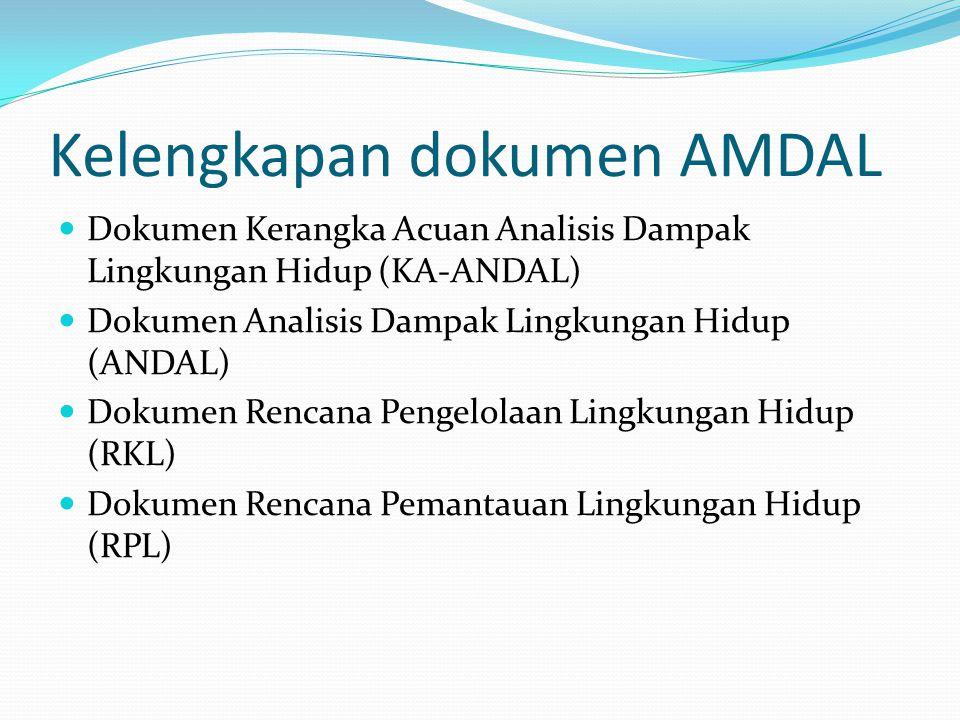 Kelengkapan dokumen AMDAL