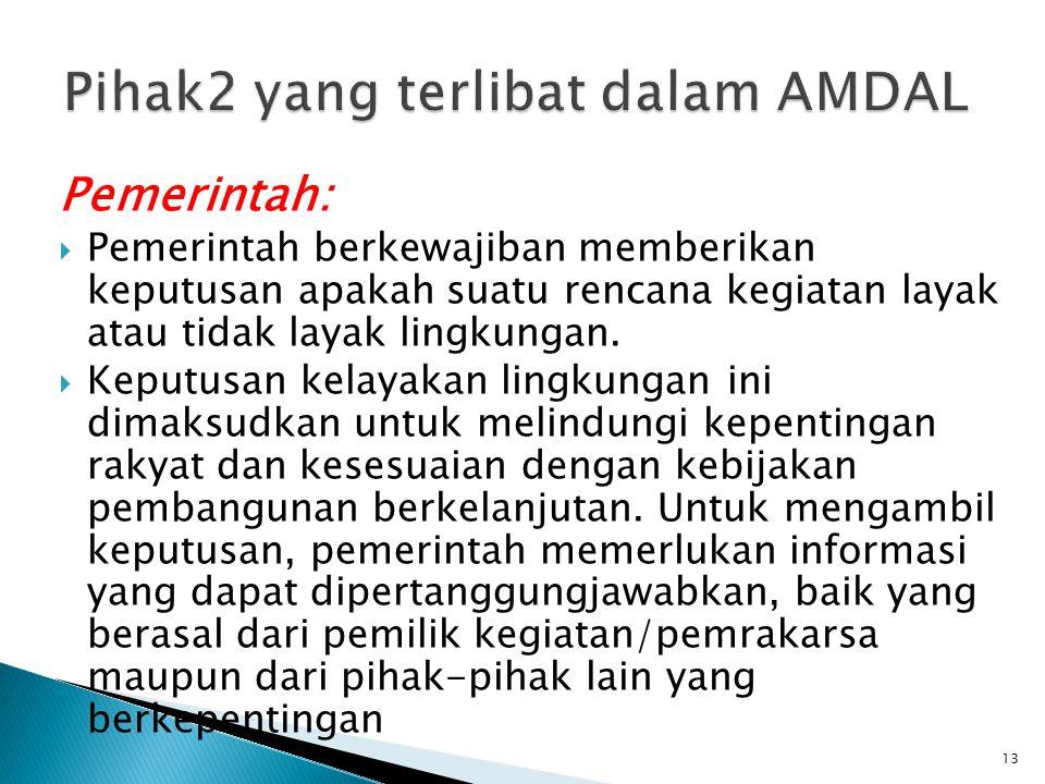 Pihak2 yang terlibat dalam AMDAL