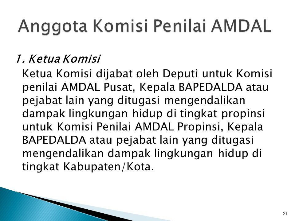 Anggota Komisi Penilai AMDAL