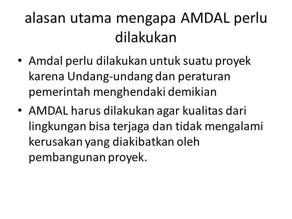 alasan utama mengapa AMDAL perlu dilakukan