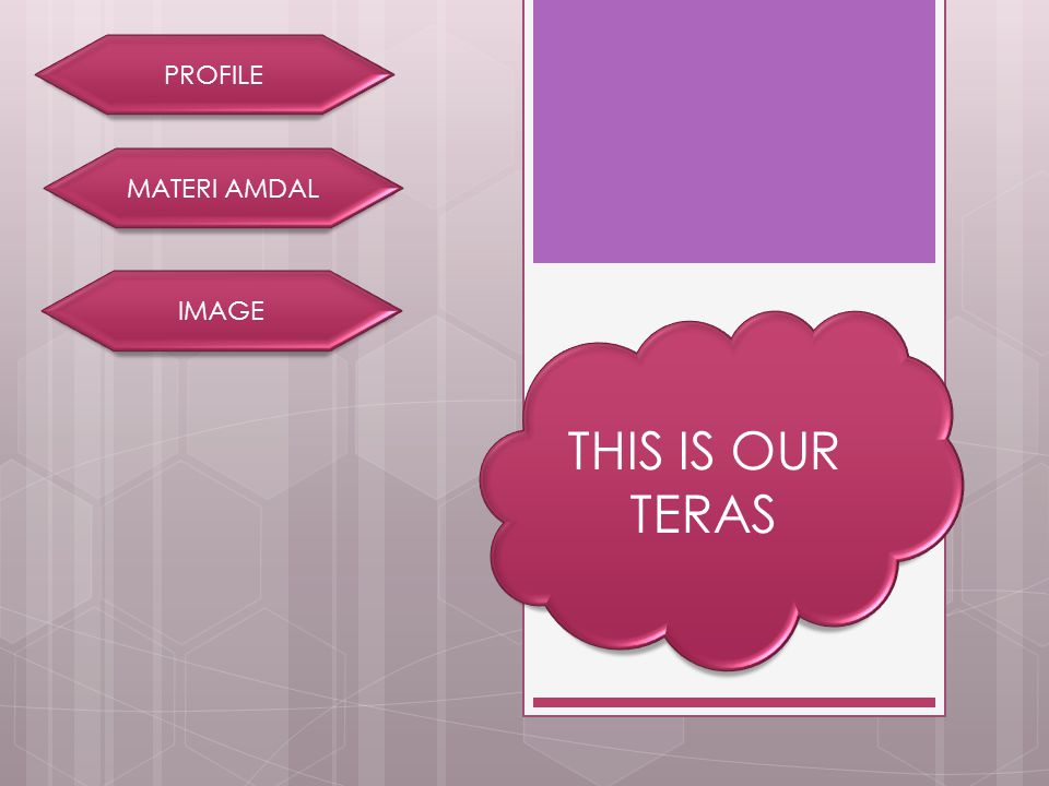 PROFILE MATERI AMDAL IMAGE THIS IS OUR TERAS