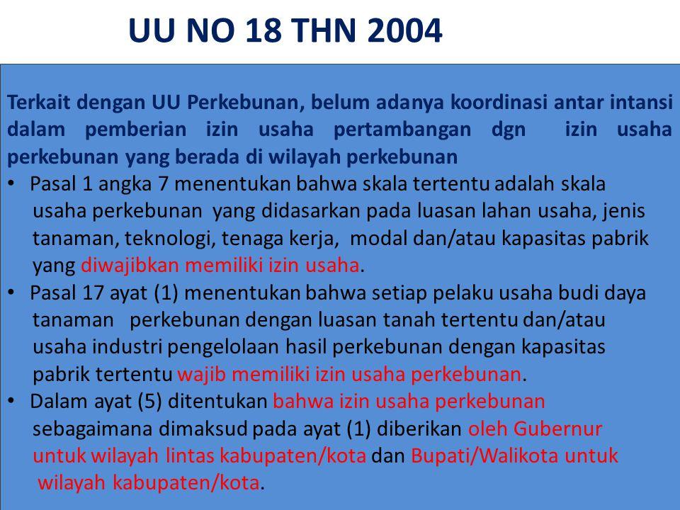 UU NO 18 THN 2004