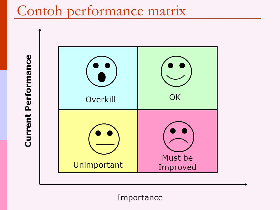 Contoh performance matrix