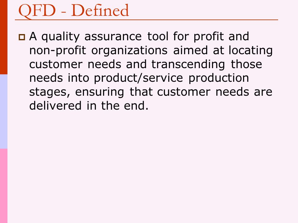 QFD - Defined