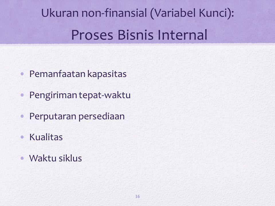 Ukuran non-finansial (Variabel Kunci): Proses Bisnis Internal