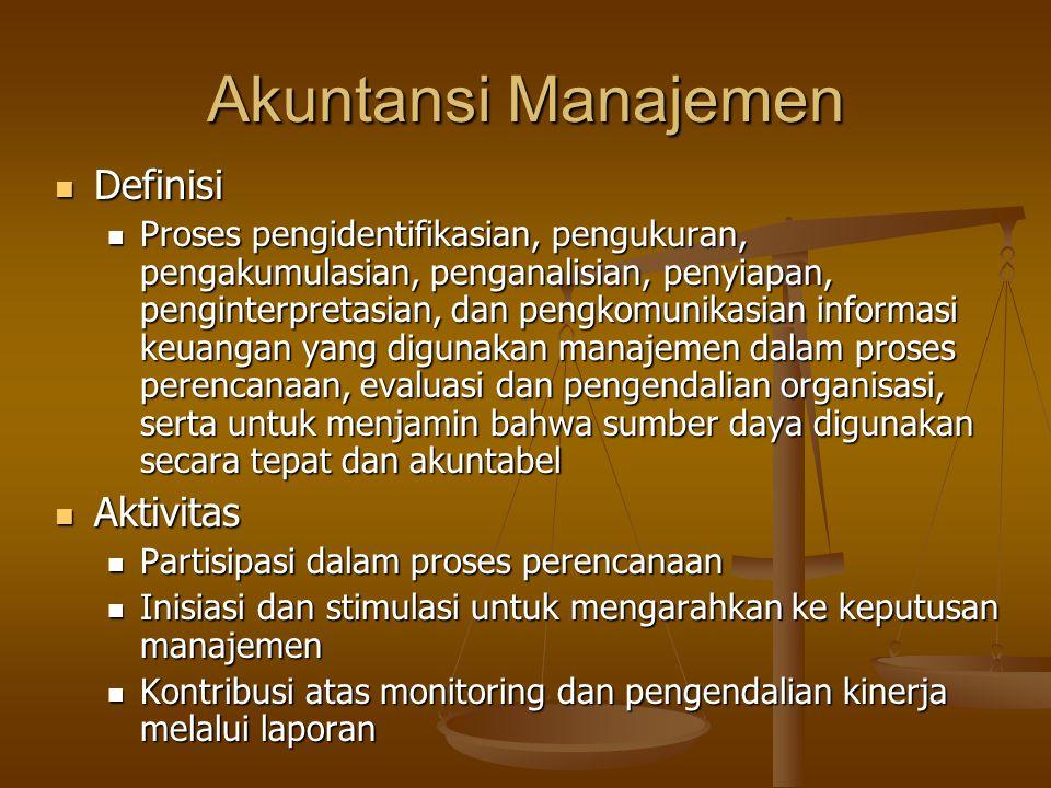 Akuntansi Manajemen Definisi Aktivitas