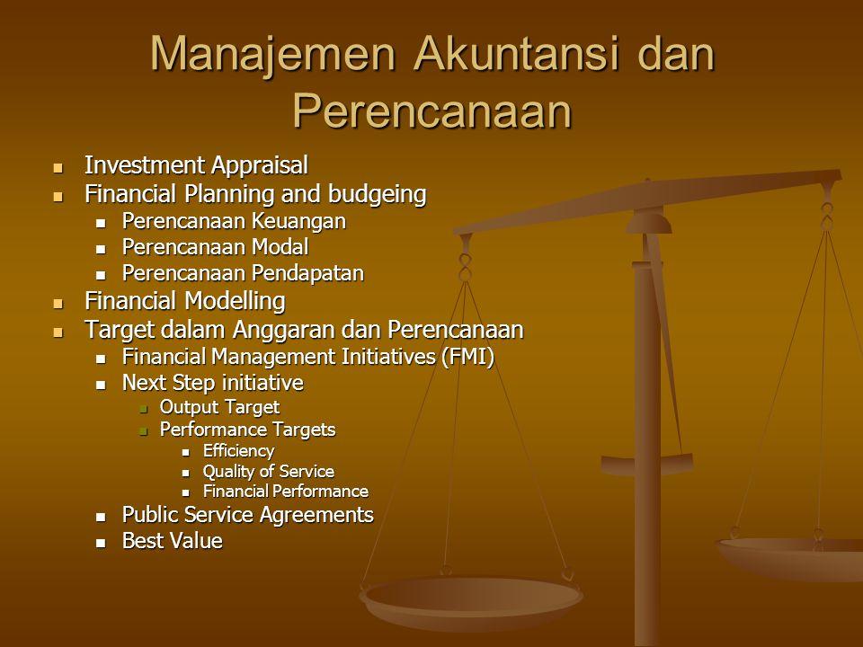 Manajemen Akuntansi dan Perencanaan