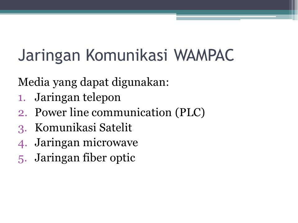 Jaringan Komunikasi WAMPAC