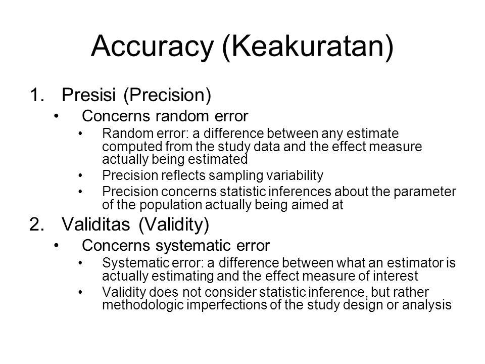 Accuracy (Keakuratan)