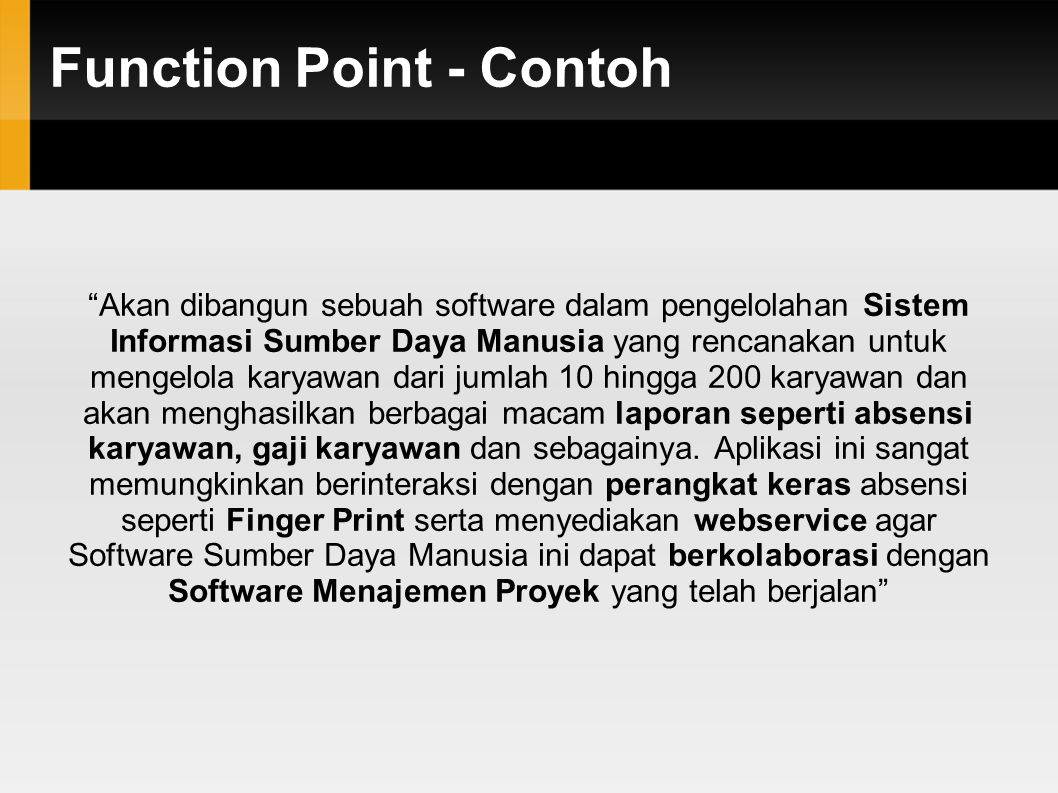 Function Point - Contoh