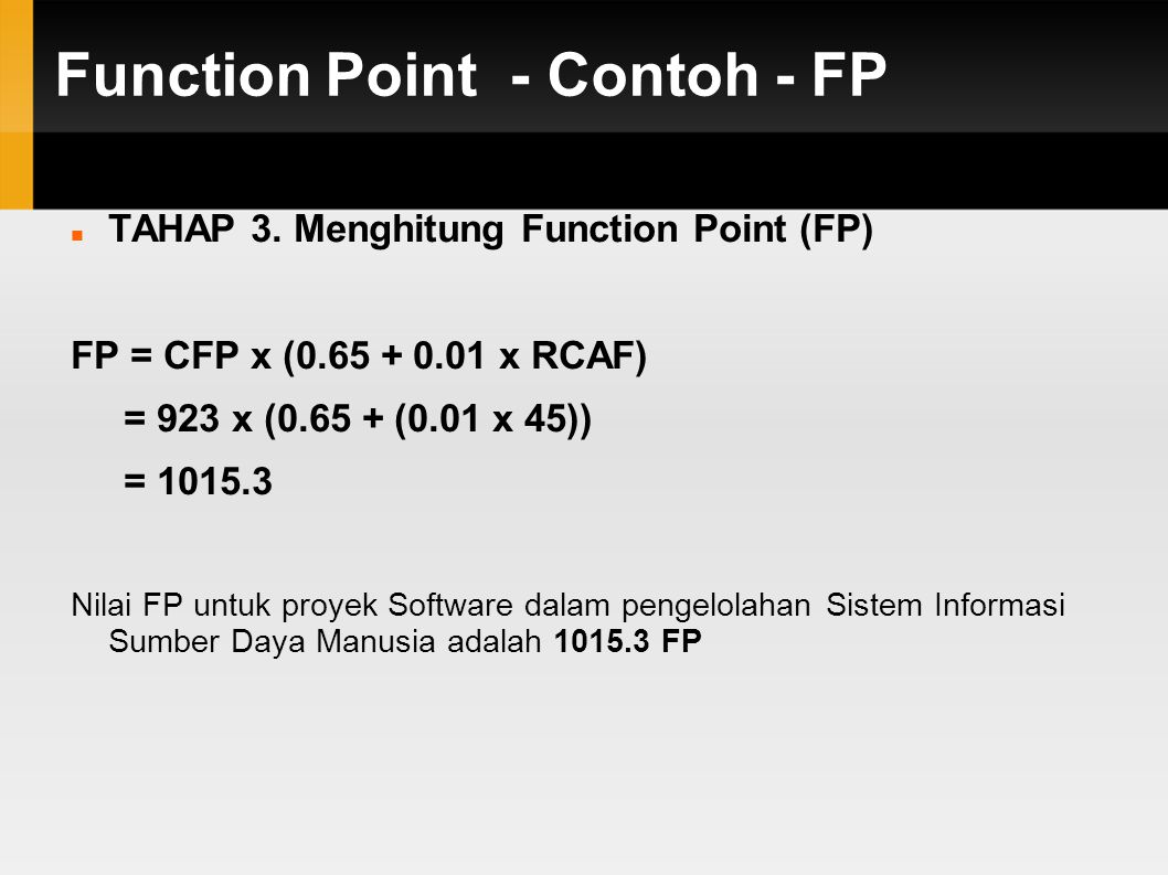 Function Point - Contoh - FP