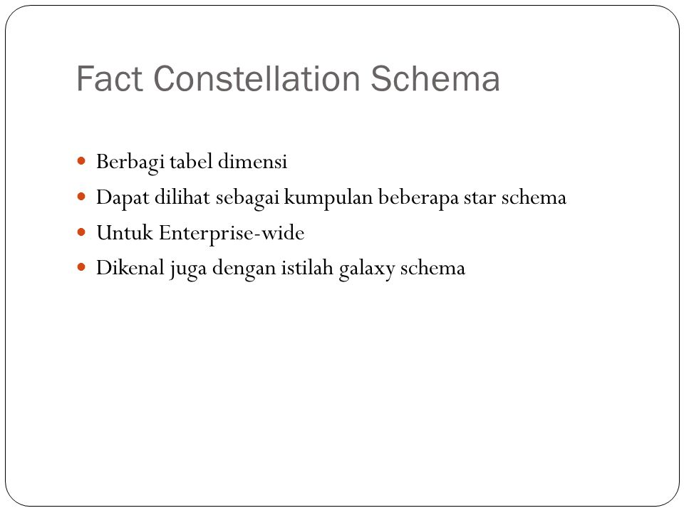 Fact Constellation Schema